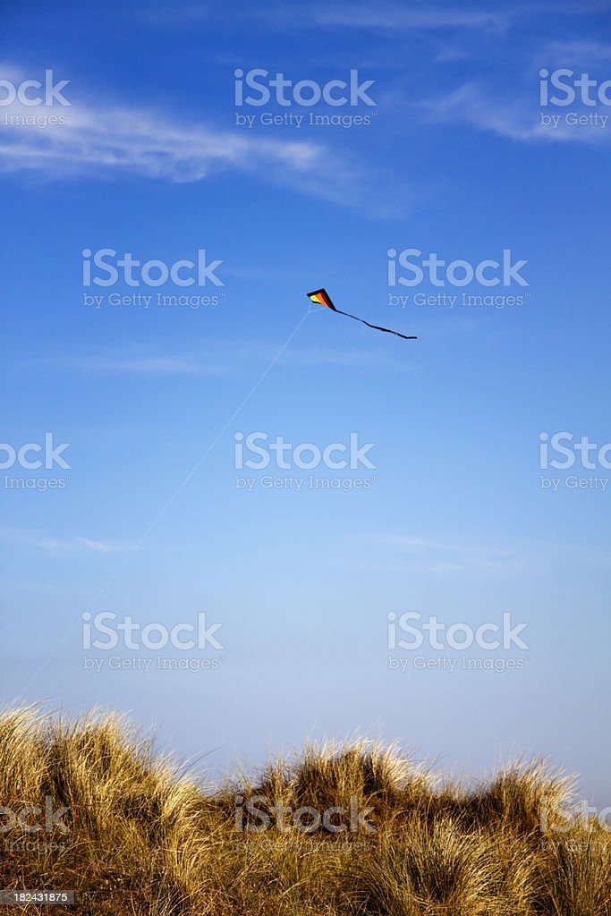 Kite and sand dunes royalty-free stock photo