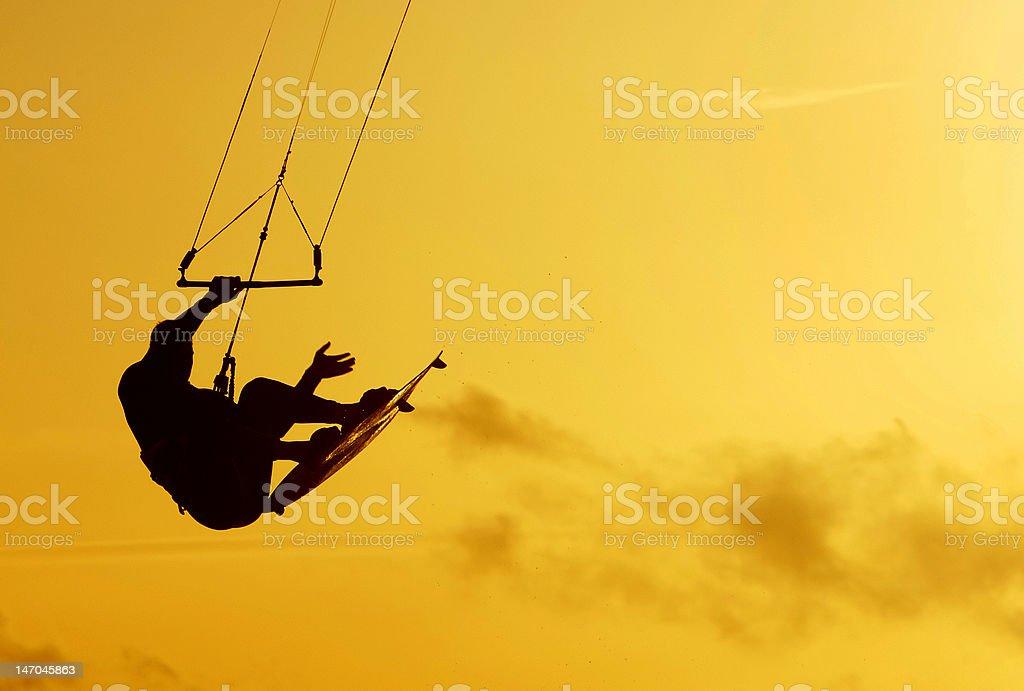 Kite boarder royalty-free stock photo