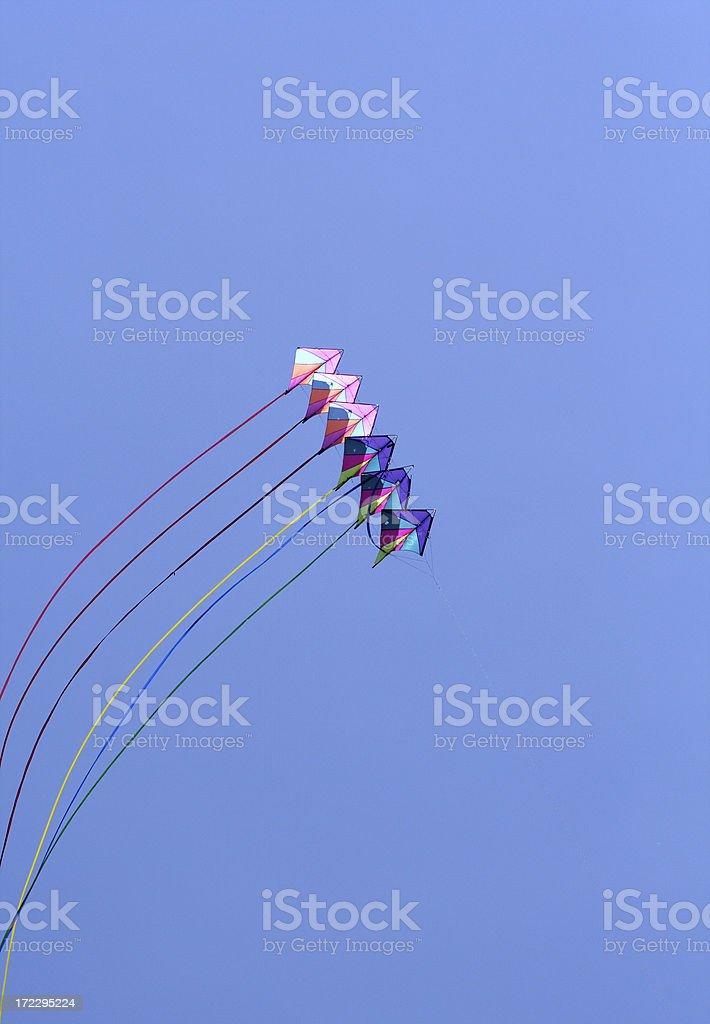 Kite Flying royalty-free stock photo