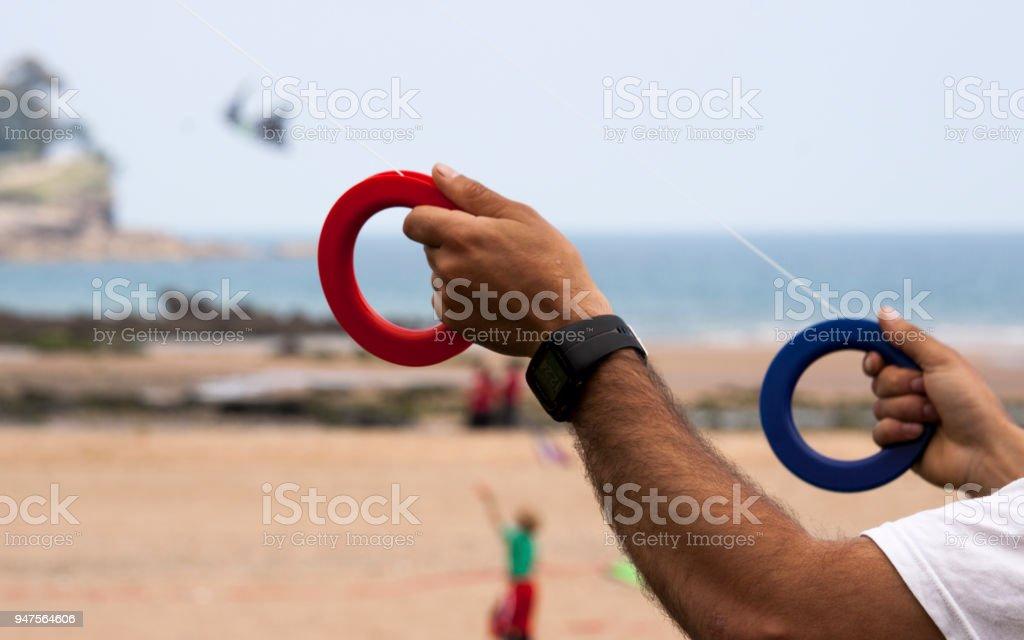 Kite handling stock photo