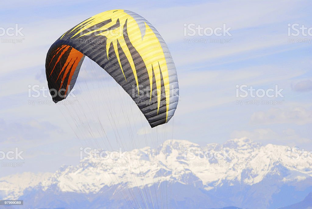 kite in mountains royalty-free stock photo