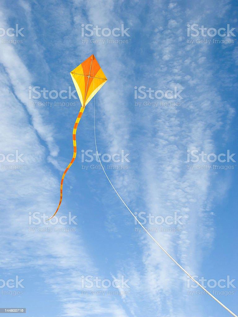 Kite in the sky stock photo