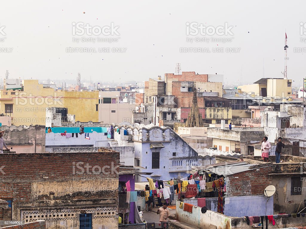 Kite in Varanasi stock photo