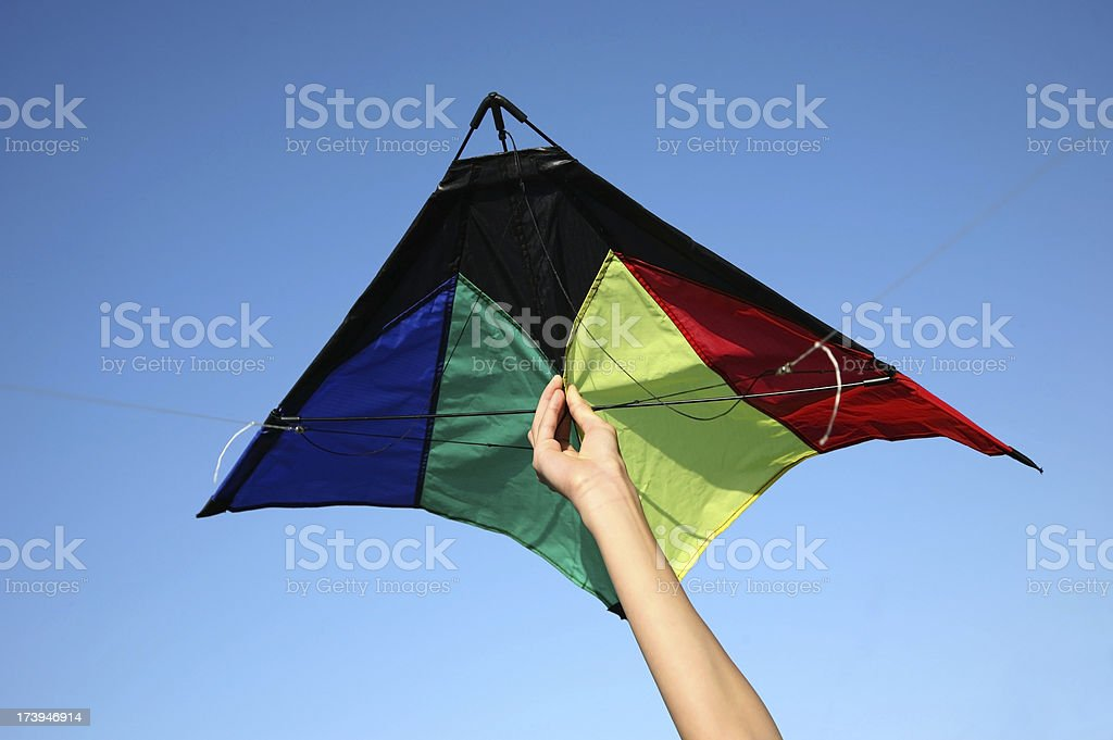 Kite Launch stock photo