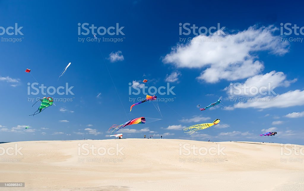 Kite party stock photo