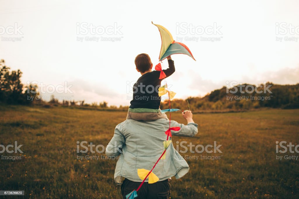 Kite ready for fly off stock photo