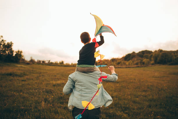 Kite ready for fly off - foto stock