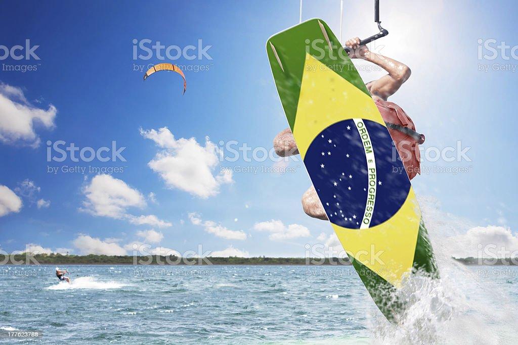 Kite surfer in Brazil royalty-free stock photo