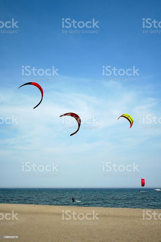 Kite Surfing 3 royalty-free stock photo