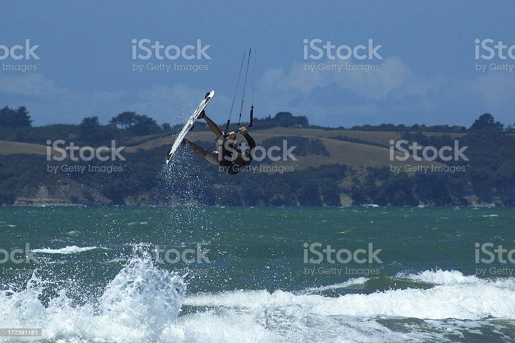 Kite surfing aerial royalty-free stock photo
