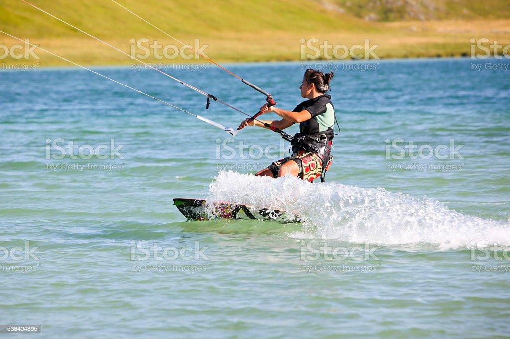 Kite Surfing Girl stock photo