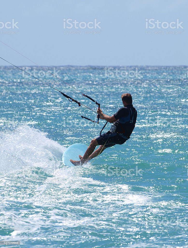 Kite Surfing royalty-free stock photo