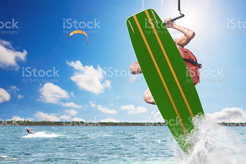 Kite Surfing royalty-free stock photo