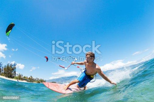 Kite Surfing, Fun in the Ocean, Extreme Sport