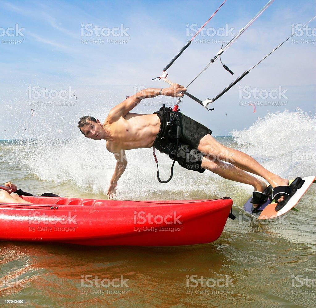 Kiteboardaction royalty-free stock photo