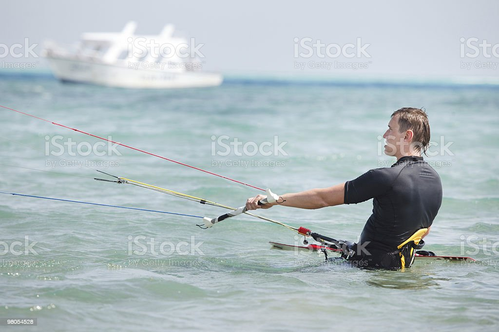 Kiteboarder portrait royalty-free stock photo