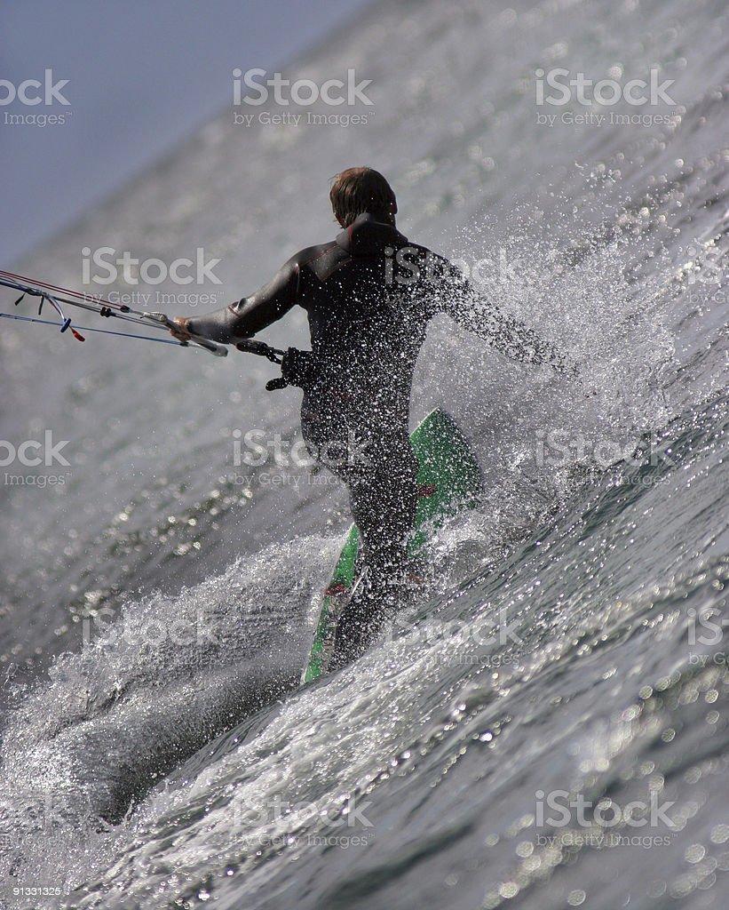 kiteboarding speed royalty-free stock photo