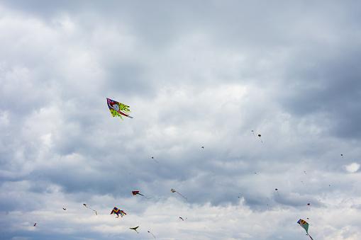 Kites flying on the Athenian sky on Ash Monday