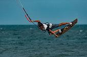 Kitesurfing at Mui Ne beach, Phan Thiet, Vietnam