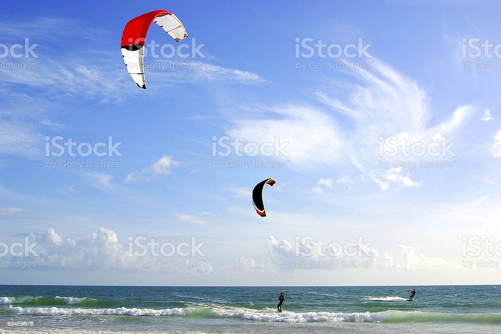 Kitesurfers stock photo