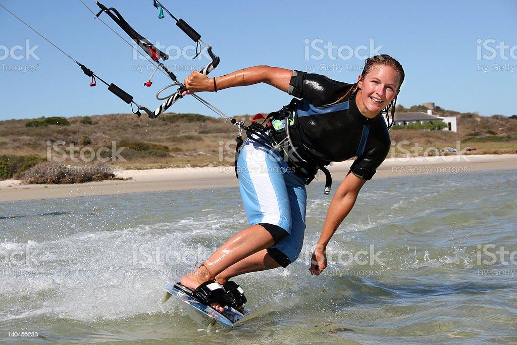 Kitesurfing Girl royalty-free stock photo