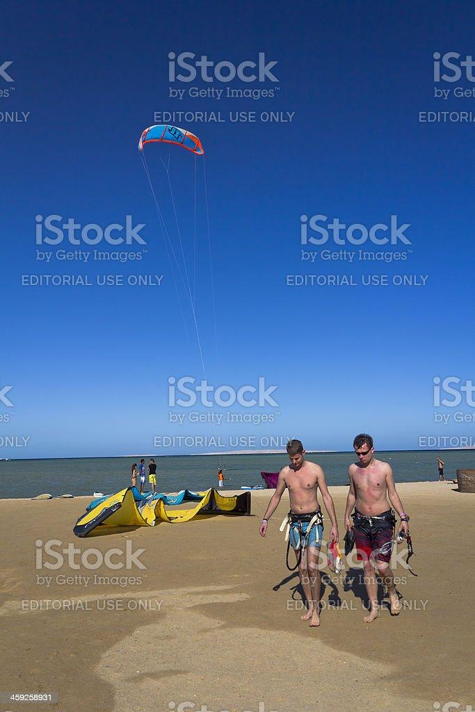 Kitesurfing in Egypt royalty-free stock photo