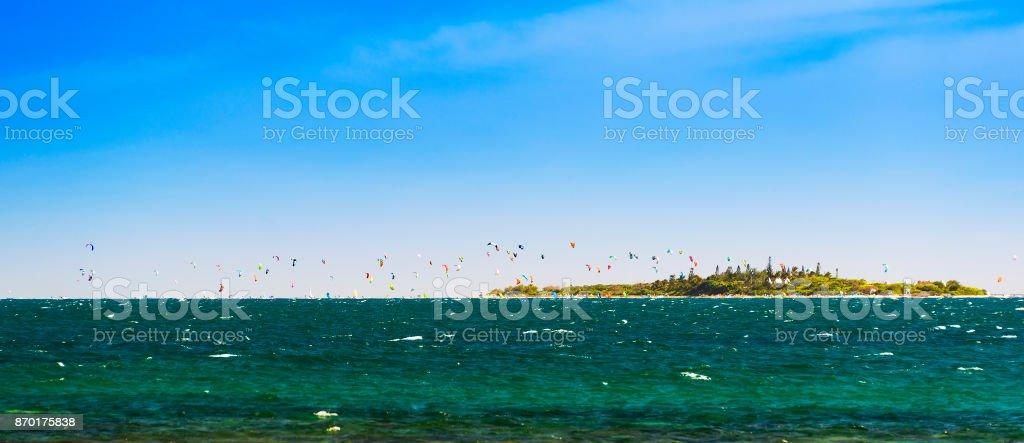 Kitesurfing New Caledonia stock photo