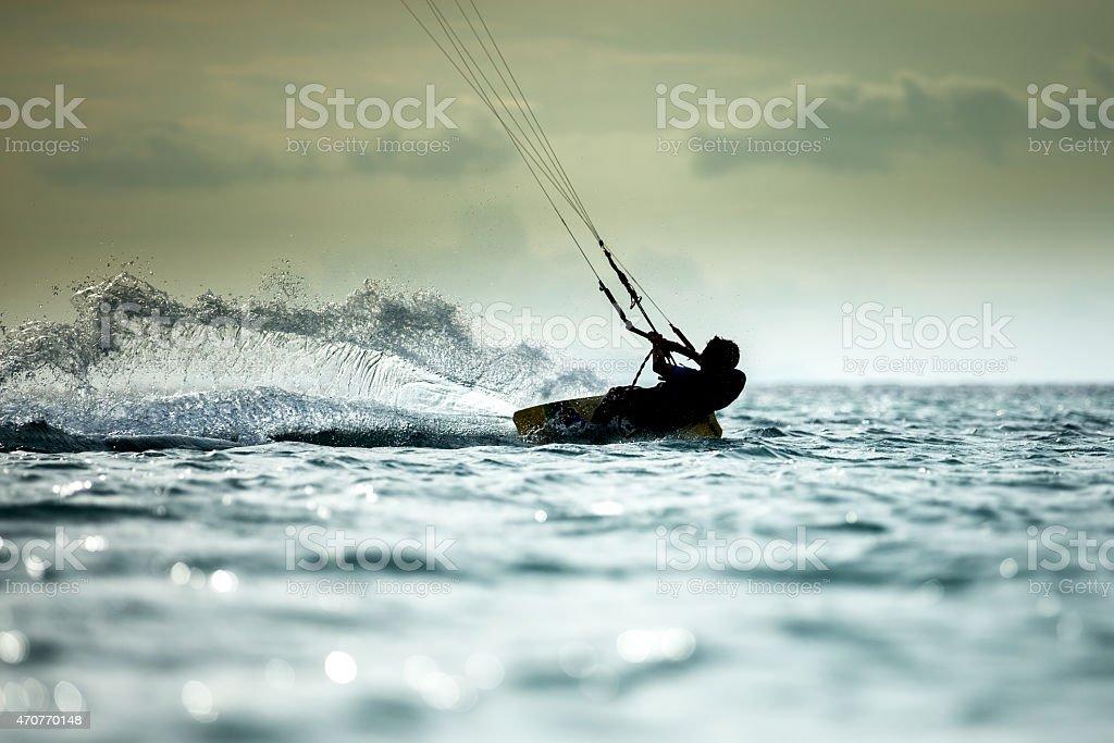 Kitesurfen Lizenzfreies stock-foto