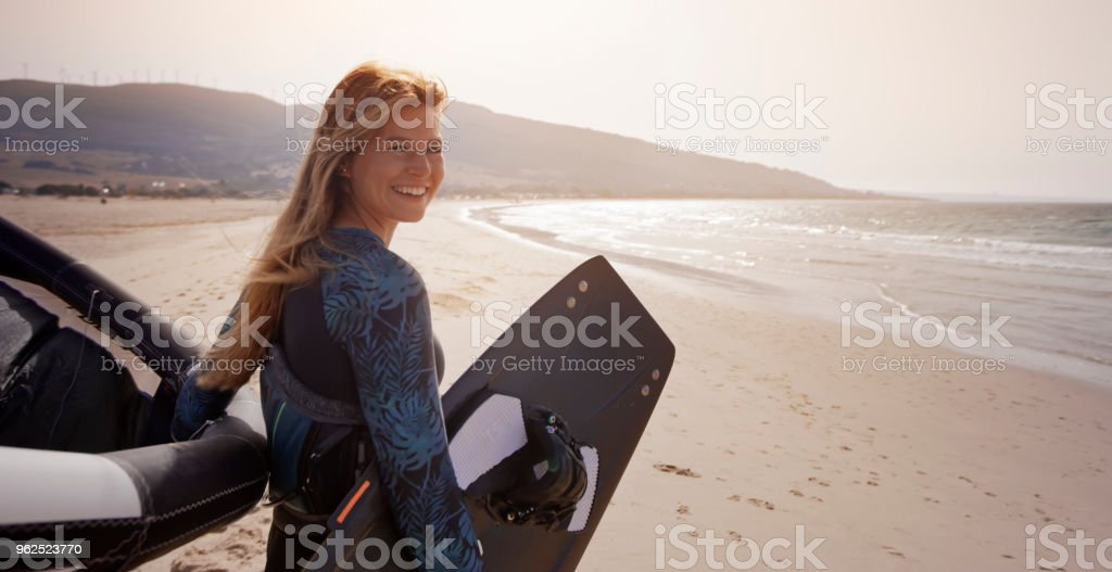 Kitesurfing - Royalty-free 18-19 Years Stock Photo