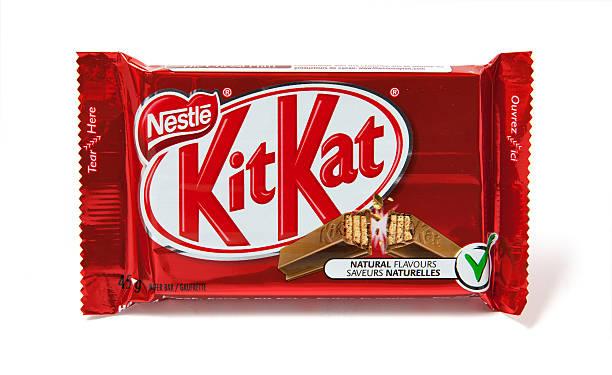 kitkat chocolate candy bar - kit kat stock photos and pictures