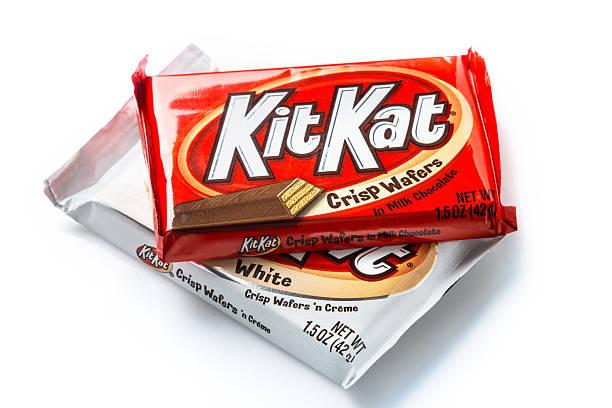 kitkat crisp waffers - kit kat stock photos and pictures