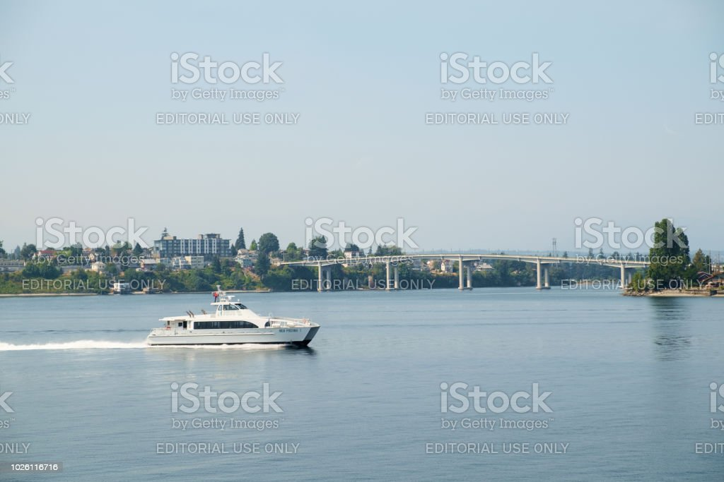 Kitsap Transit Fast Ferry stock photo
