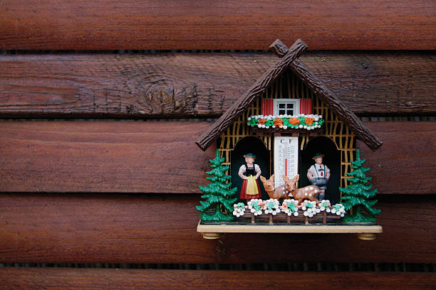 Kitschy german weather house  black forest stock pictures, royalty-free photos & images