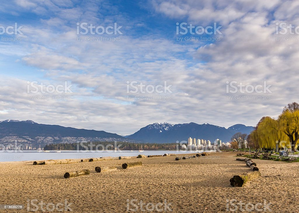 Kitsilano beach in Vancouver BC Canada stock photo