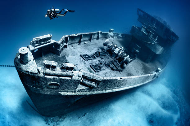 kittiwake shipwreck asr-13 - shipwreck stock pictures, royalty-free photos & images