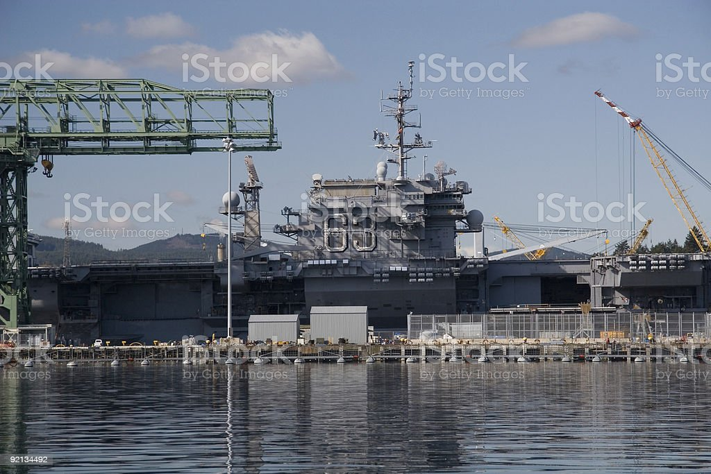 USS Kitty Hawk aircraft carrier 63 stock photo