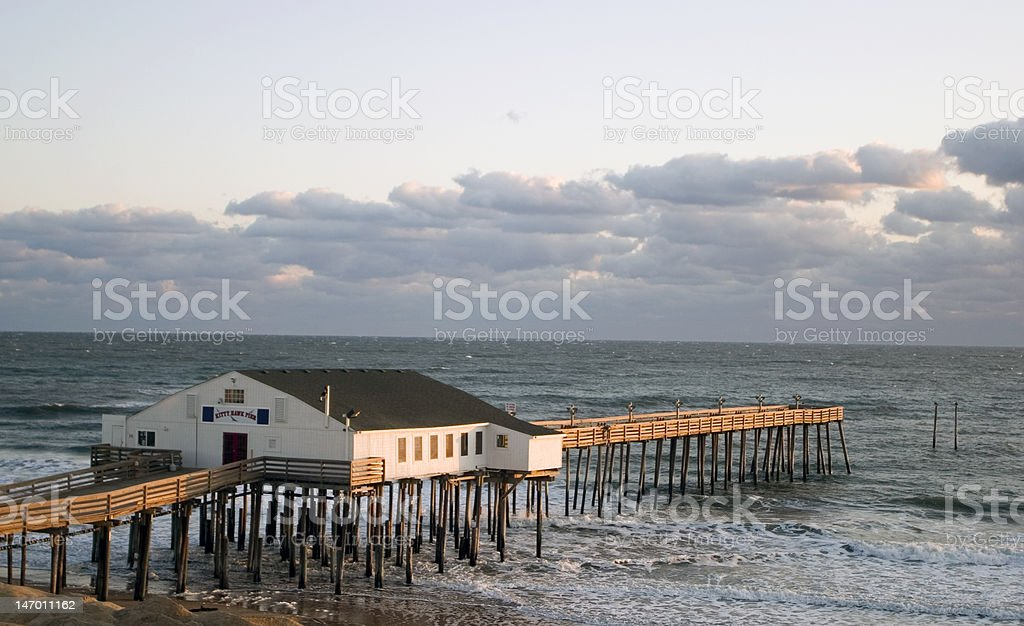 Kitty Hawk Pier stock photo