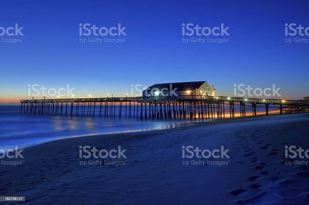 Kitty Hawk Pier Sunrise stock photo