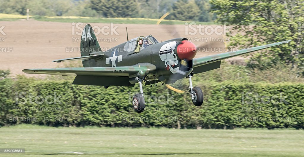 P-40 Kittyhawk 'Lulu Belle' WW2 fighter aircraft stock photo