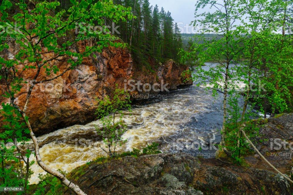 Kiutakongas rapids in Oulanka National Park stock photo