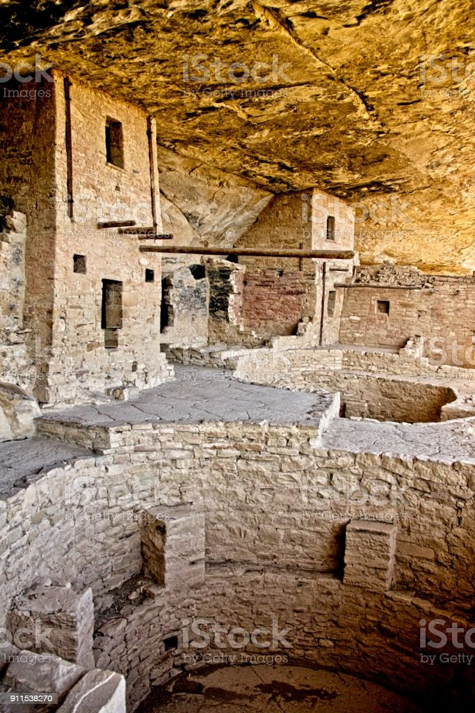 Kiva at Mesa Verde Cliff Dwellings stock photo