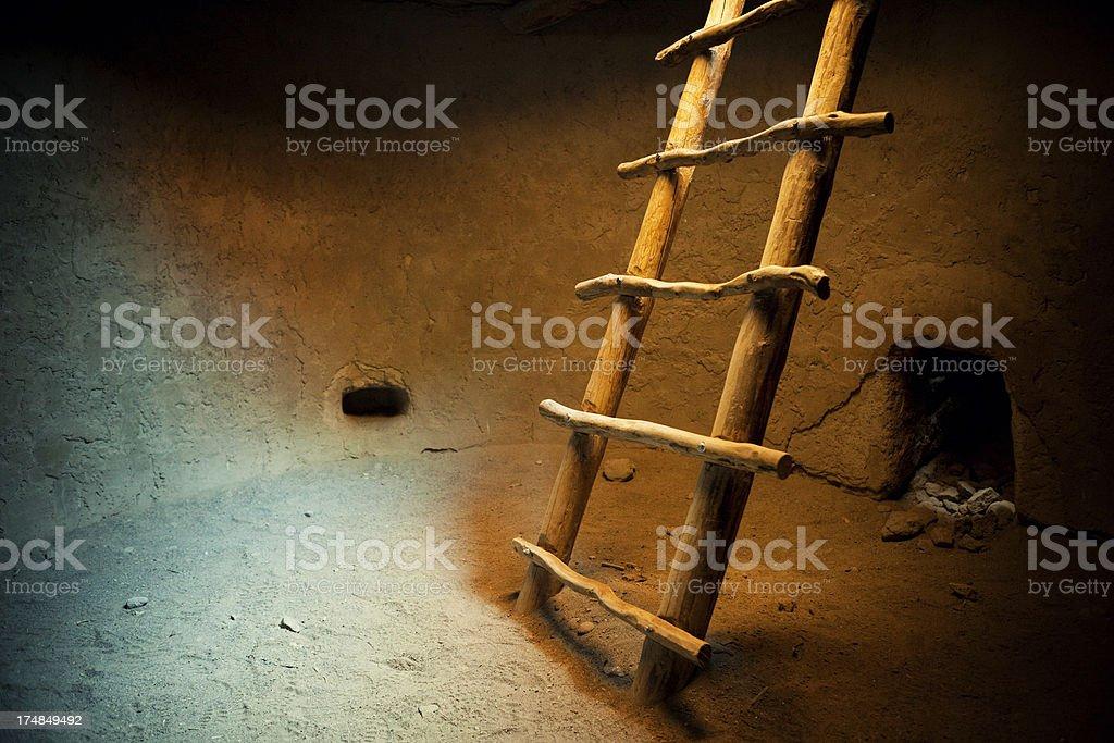 Kiva Interior - Bandelier National Monument stock photo