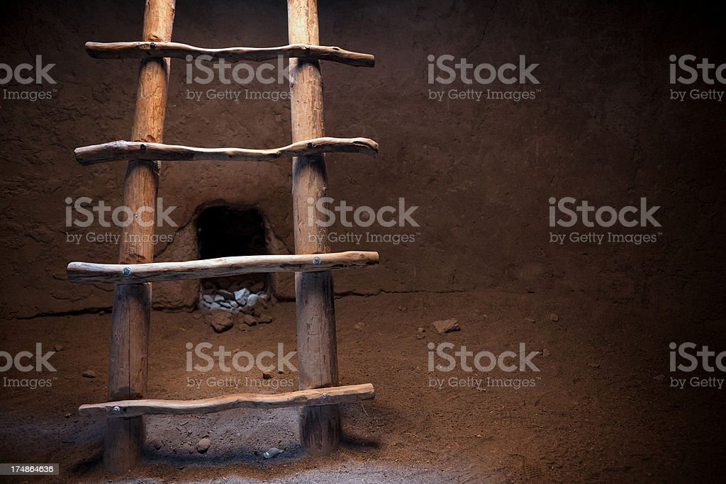 Kiva Interior - Bandelier National Monument royalty-free stock photo