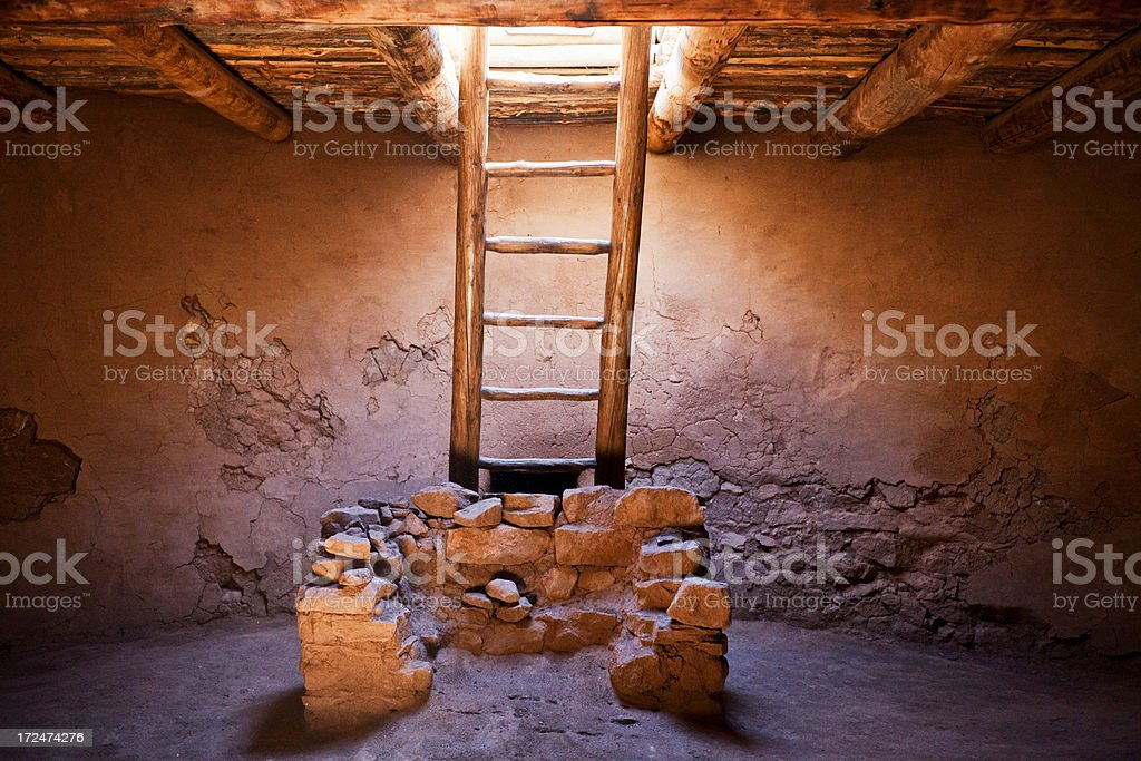 Kiva Interior - Pecos National Monument stock photo