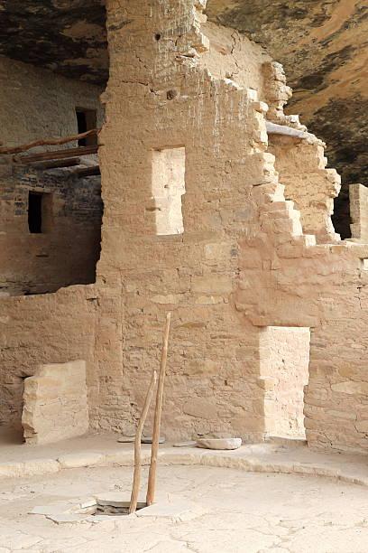 Kiva Ladder, Mesa Verde National Park, Colorado stock photo