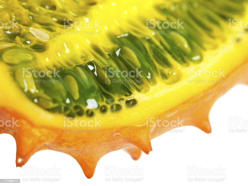 Kiwano closeup stock photo