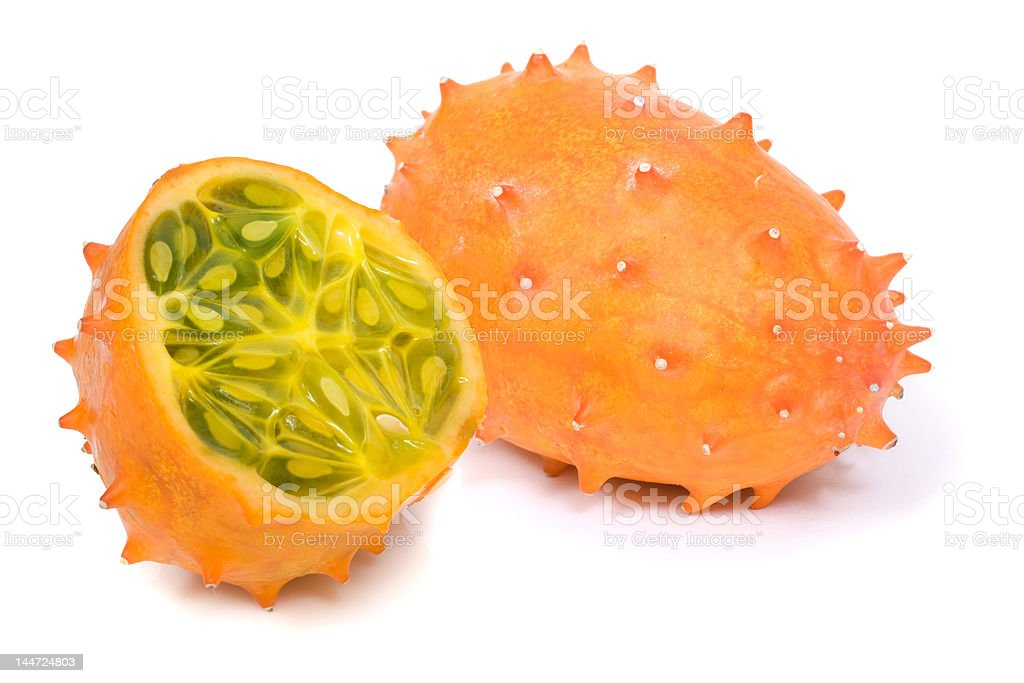 Kiwano or Horned Melon (Cucumis metuliferus) royalty-free stock photo