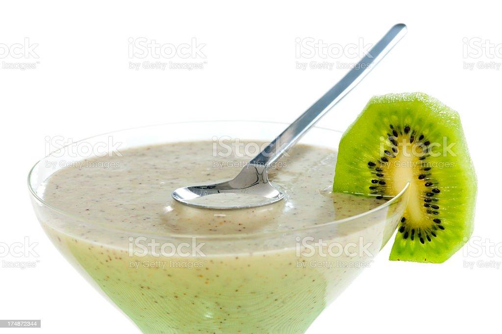 Kiwi and Banana Smoothie royalty-free stock photo
