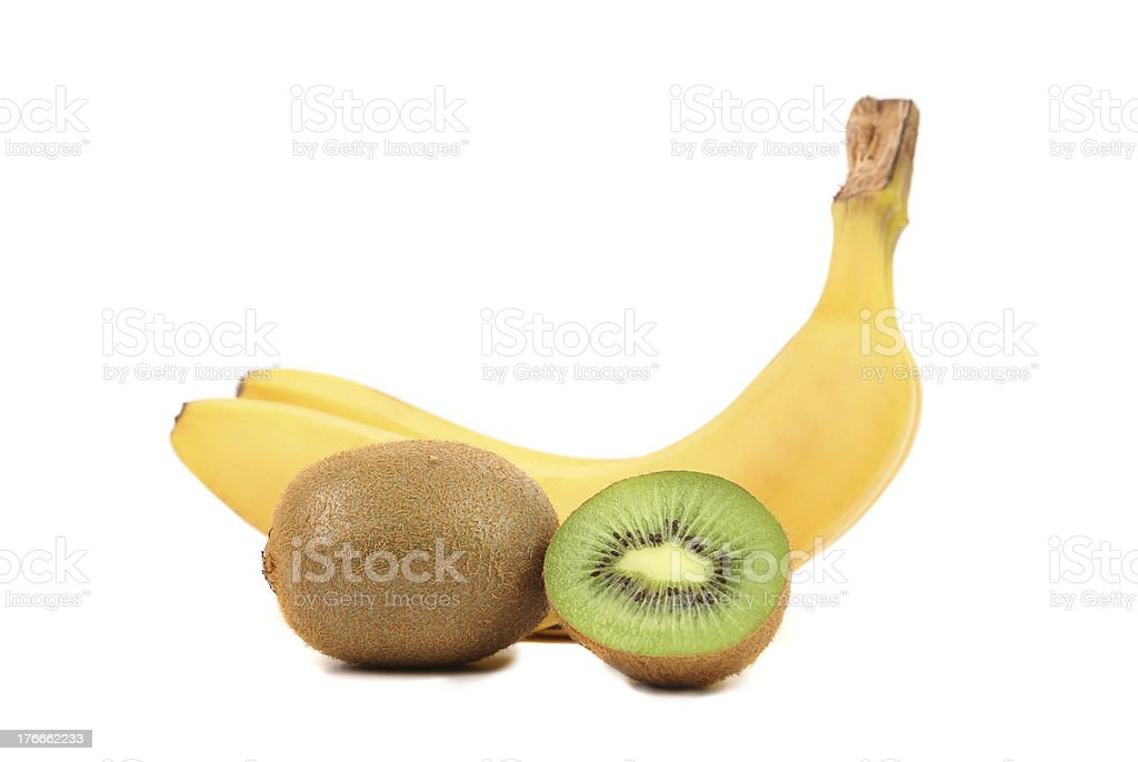 Kiwi and bananas. royalty-free stock photo