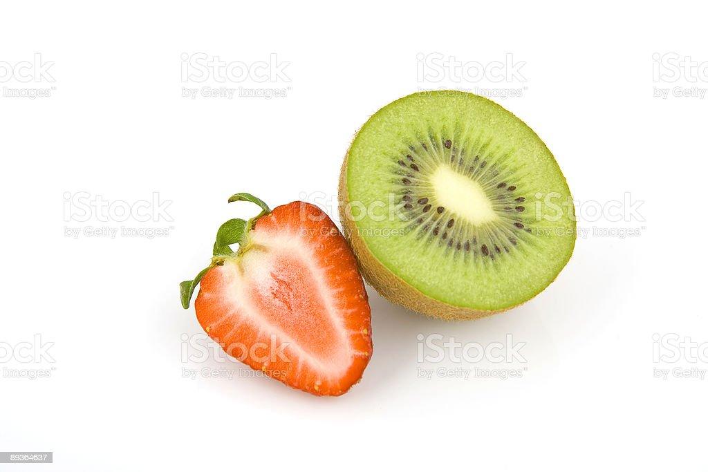 kiwi and strawberry royalty-free stock photo